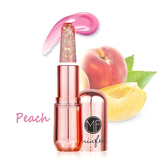 Ourhomer Lip Plumper, minfei Beauty Bright Crystal Jelly Lipstick Magic  Temperature Change Color Lip Makeup