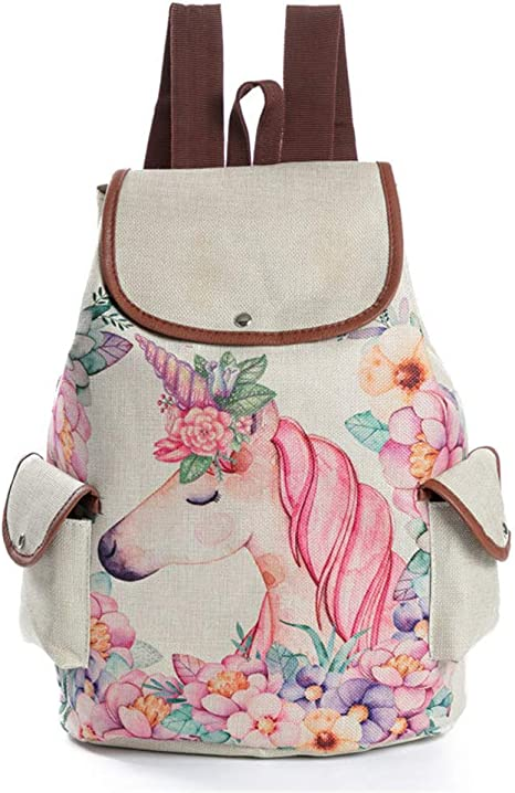 Unisex PU Leather Backpack Santa Deer Print Womens Casual Daypack Mens Travel Sports Bag Boys College Bookbag