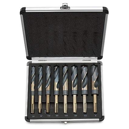 5//8 3//4 Cobalt Silver Deming 9//16 Drill Hog USA 29 Pc Cobalt Drill Bit Set