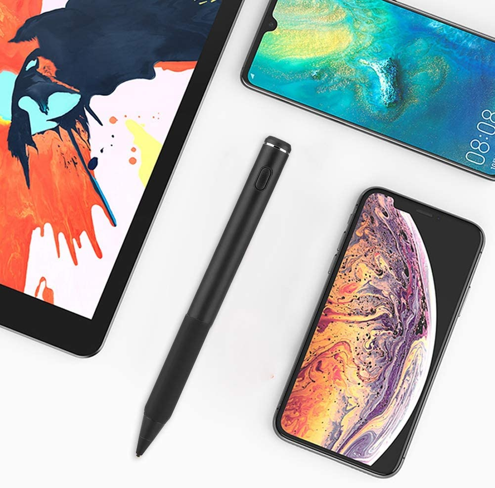 Portable Capacitive Stylus Pen Touch Screen Smooth Touch Pen,High Precision Pen Stylus Pen Pen Drawing//Writing//Notes Pen for Cell Phone Tablet,Black ASHATA Stylus Touch Pen