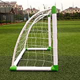 TimmyHouse Soccer Goal 47'' x 31'' Football W/Net Straps, Anchor Ball Kids Training Sets
