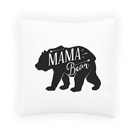 Amazon.com: Mama Bear almohada decorativa, cojín con relleno ...