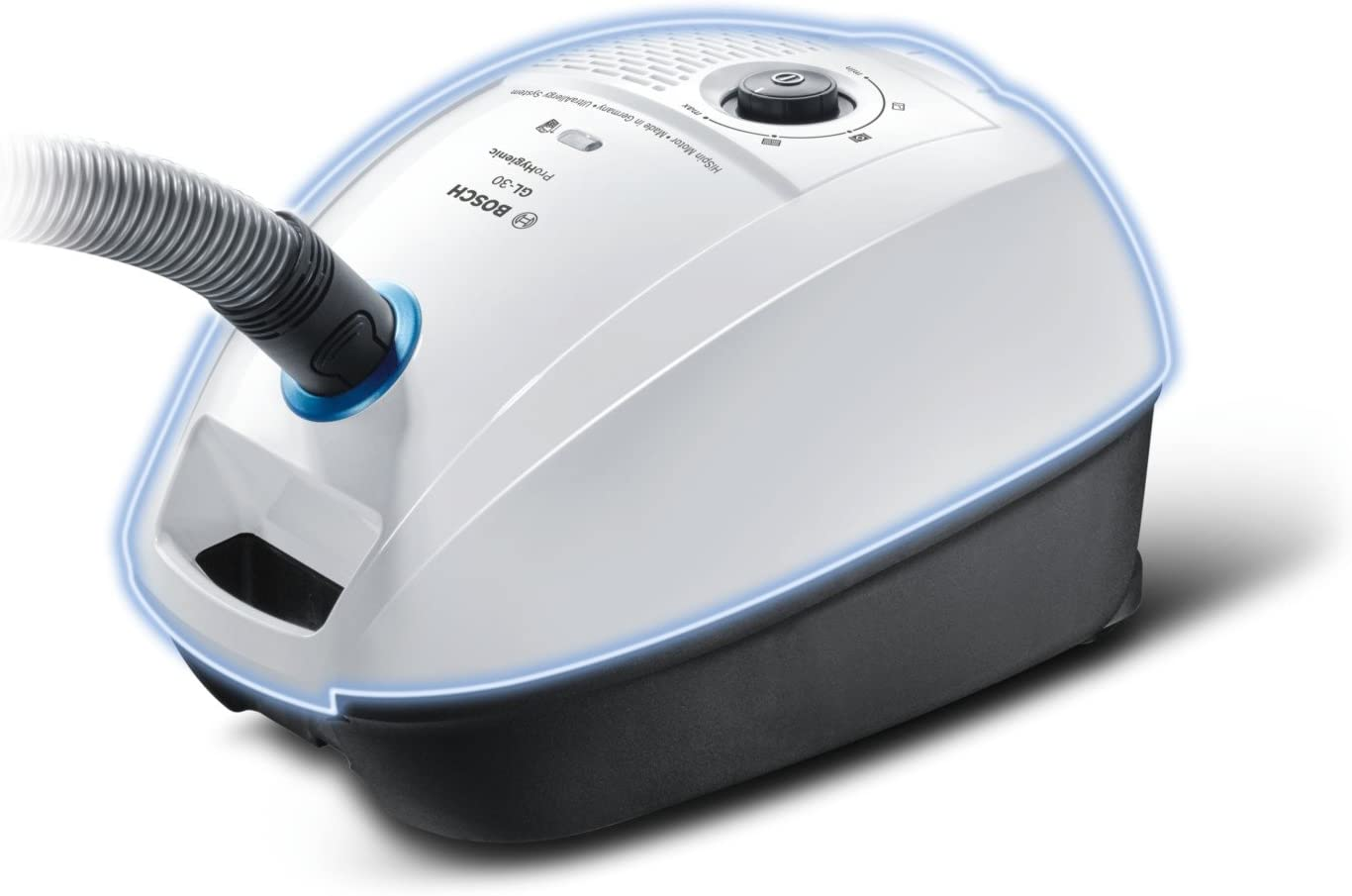 Bosch BGL3HYG ProHygienic Aspirador con bolsa, 600 W, capacidad de 4 litros, color blanco y azul: Amazon.es: Hogar