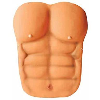 Foam Man Muscle Chest 6 Pack Abs Adult Costume Prop New