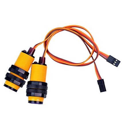 amazon com xiaor geek 2 pcs line sensor infrared obstacle avoidancexiaor geek 2 pcs line sensor infrared obstacle avoidance sensor module adjustable distance photoelectric switch for