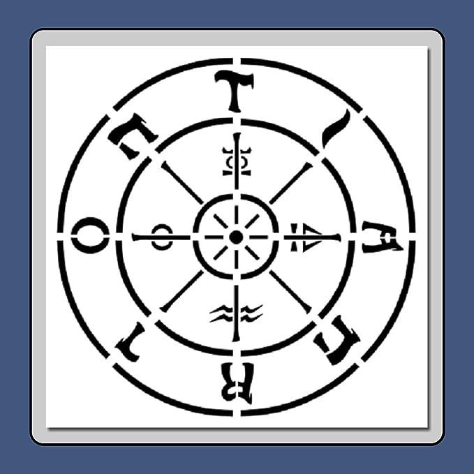 Amazon com: 7 X 7 inch Tarot Wheel of Fortune Stencil
