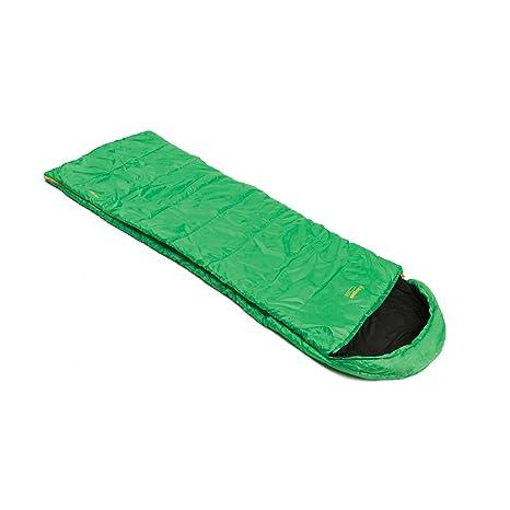 SnugPak Basecamp Nautilus Square – Saco de dormir con cremallera izquierda, color verde esmeralda