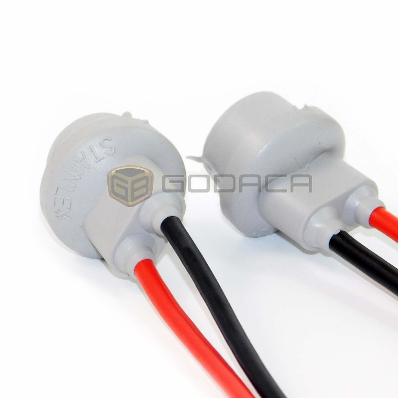 2x Connectors Socket Bulb Light Harness Pigtail T10 168 Centech Wiring Jeep Cj7 194 Rubber Wedge Le Automotive