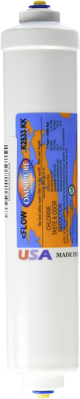 "Omnipure K2533-KK Granular Activated Carbon Water Filter 2 x 10/"" Brand New ! 1"