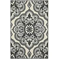 Maples Rugs Kitchen Rug - Vivian 2.5 x 4 Non Skid Small Accent Throw Rugs [Made in USA] for Entryway and Bedroom, 2'6 x 3'10, Grey