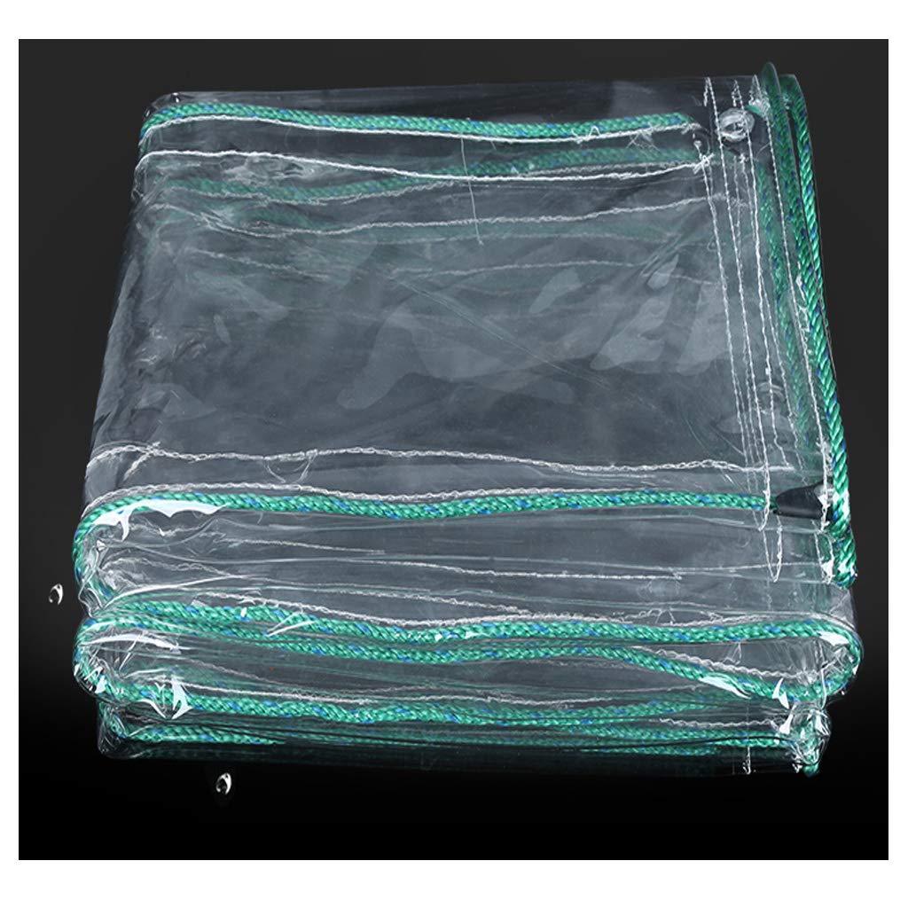 GUZP Starke Transparente Poncho Wasserdichte Plane Balkon Gartenzelt Regen Vorhang PVC Kunststoff Tuch Klar Plane (größe : 2x3)