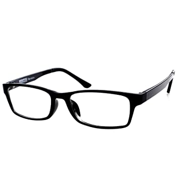 568ad70b9f Gloss Black Frame Shortsighted Myopia Distance Glasses -2.25 Strength   These are not reading glasses   Amazon.co.uk  Health   Personal Care