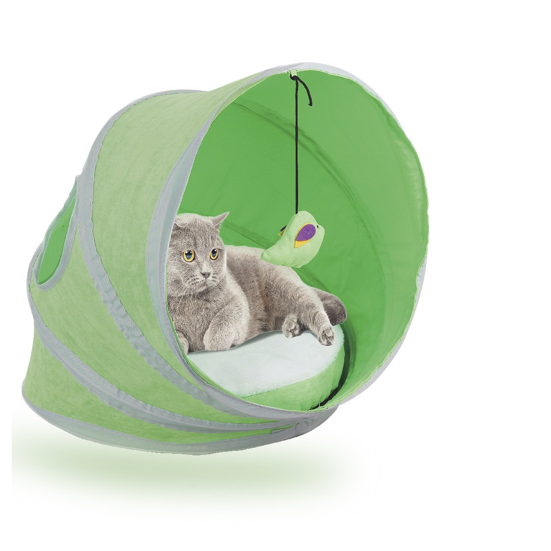 Pawise Pop-up Pet Cat House Tent Stress Free Trip, New Pack (Free Mouse + Cat Collar)