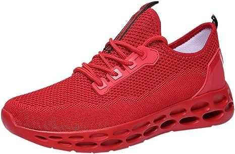 LuckyGirls Bambas Deportivas de Hombre Malla Fondo de Colmena Zapatillas de Running Calzado Zapatos de Correr Casual: Amazon.es: Deportes y aire libre
