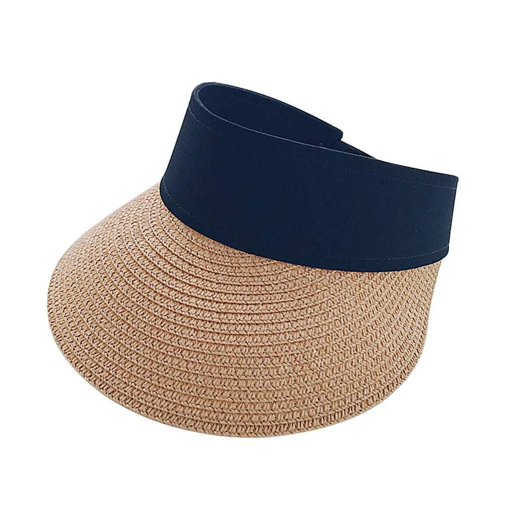 Large Brim UV Protection Summer Beach Cap Supertop Sun Visor Hats for Women