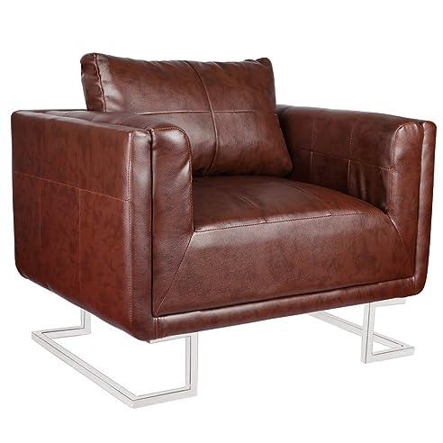 Luxus sessel  vidaXL Luxus Ledermixstuhl Sofa Lounge Wohnzimmer Sessel ...