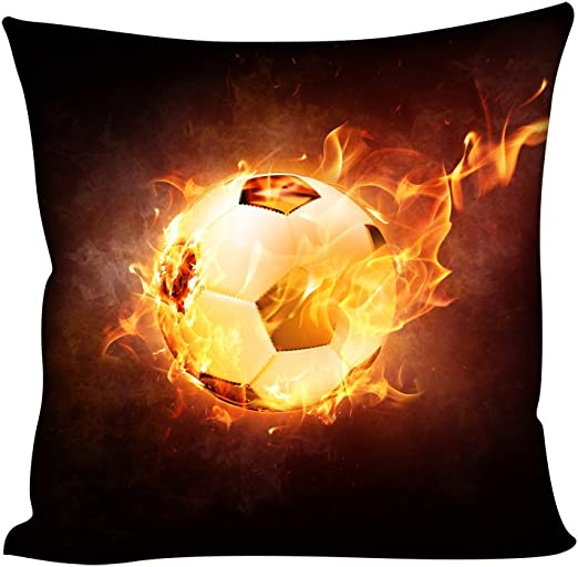 Coloranimal Funda de almohada 3D con diseño de pelota de fútbol ...