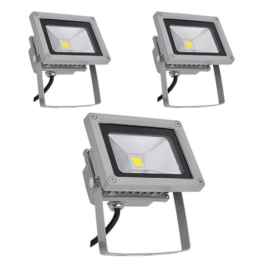 PrimLight 3 pcs 10W Impermeabiliza Reflector Blanco Fresco del LED ...