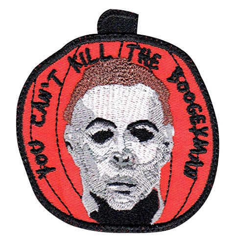 Michael Myers Halloween Pumpkin Horror Movie Inspired Art Sew On Glue Backing Patch ()