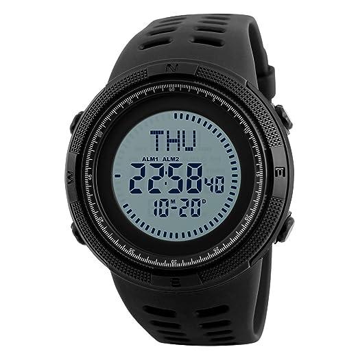 Reloj Deportivo Digital para Hombres Reloj Militar con cronómetro Impermeable Cuenta atrás Fecha automática: Amazon.es: Relojes