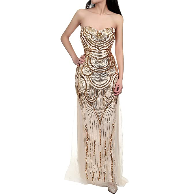 Lover-Beauty Bridal Sequin Prom Banquet Evening Dress for Wedding ...