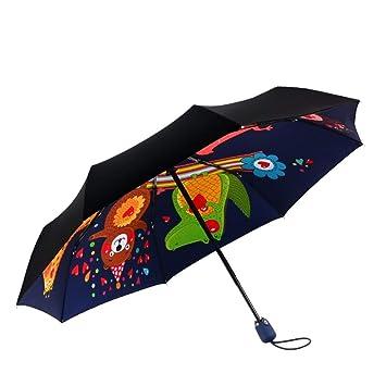 TUILM Paraguas Paraguas Paraguas Plegable Automático ...