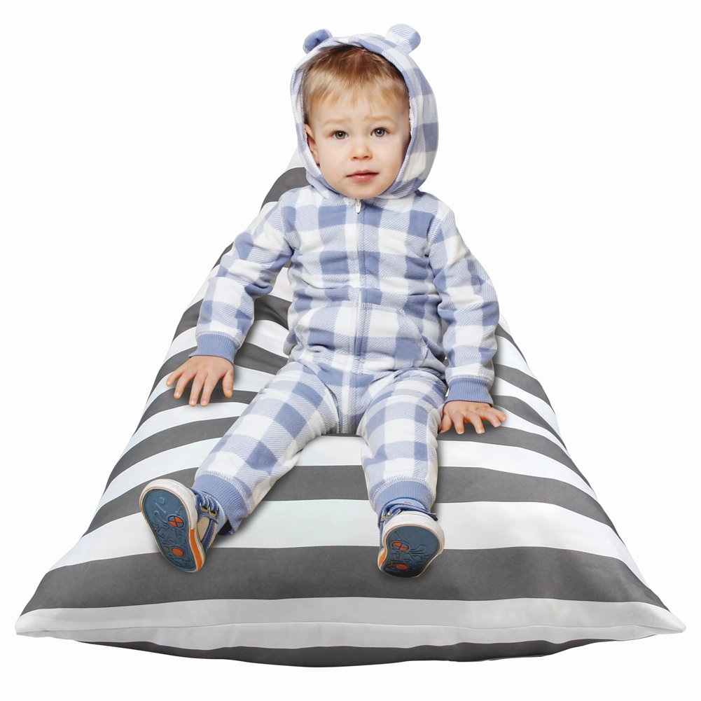 MHJY Stuffed Animal Storage Bean Bag Chair for Kids Toy Storage Organizer Sack Plush Toys Bean Bag Cover Lounger Bed