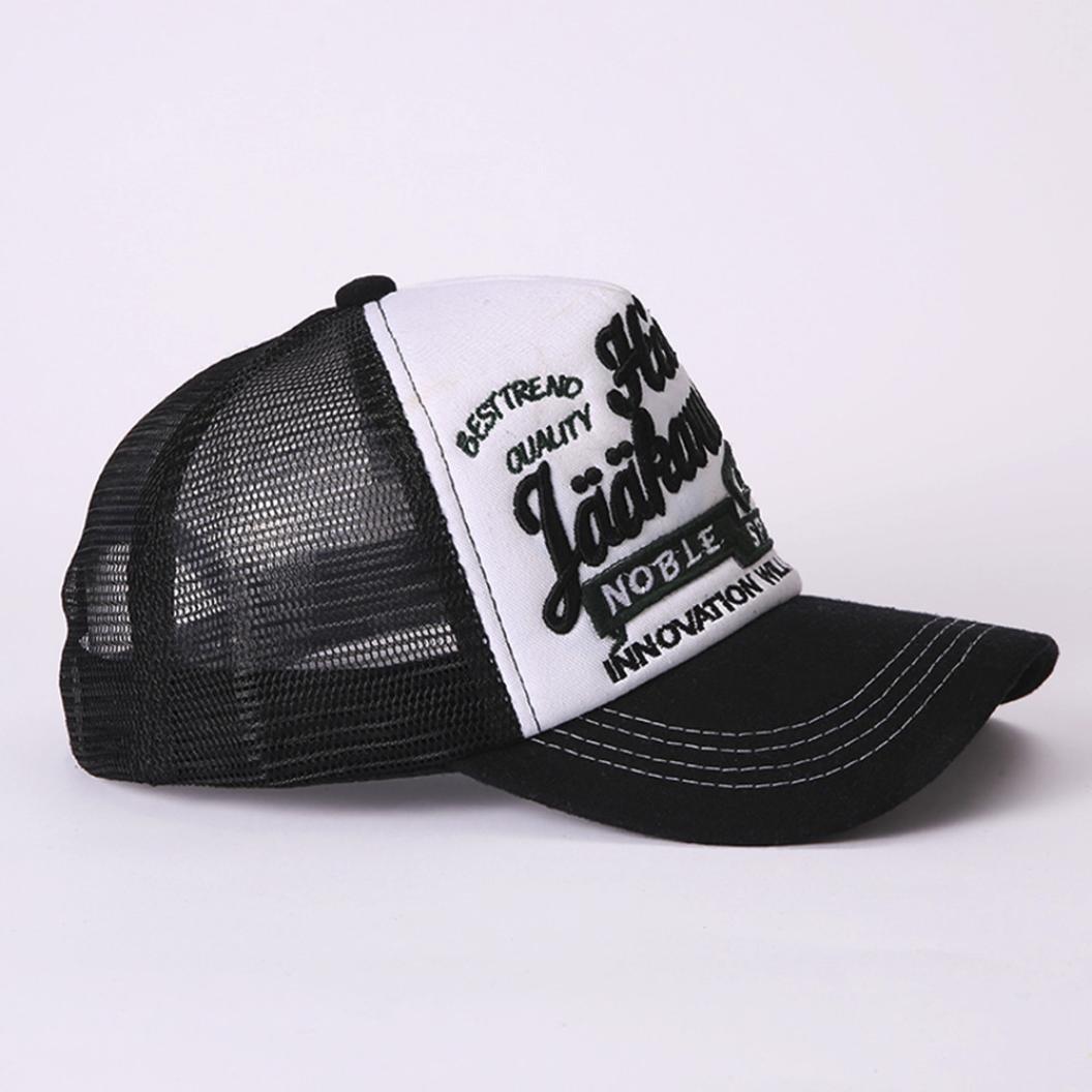Logobeing Verano Sombrero Con Viseras Hip-Hop Sol Gorra De Béisbol  Ajustable Gorra Para Hombres Mujeres a9228da7a0b