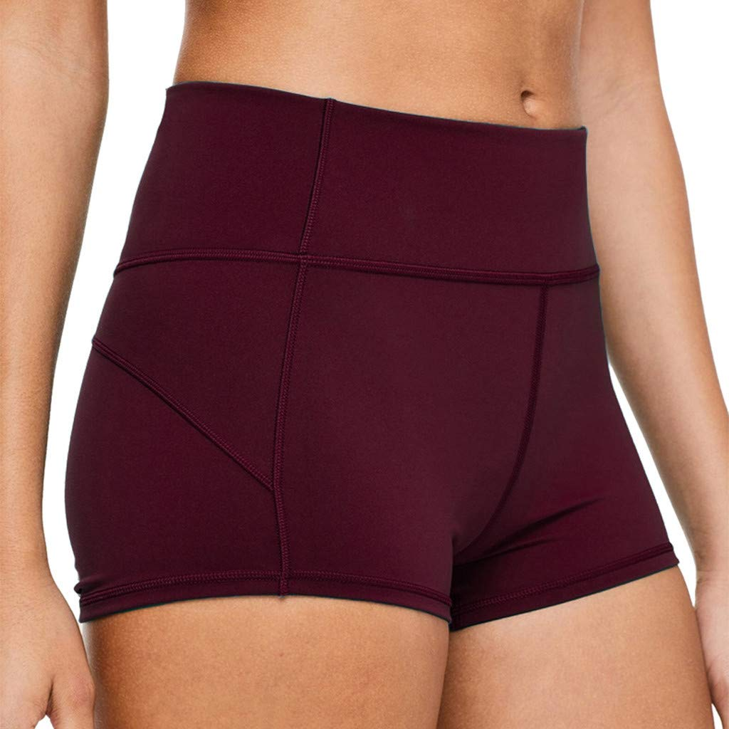 Alalaso Women's Yoga Capri Pants Workout Bootleg Crop Leggings High Waisted Yoga Pants Red