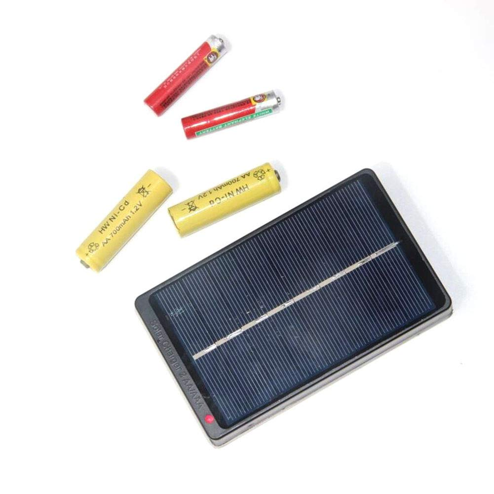 1W 4V Solar Panel Mini Solar System Charger for 2xAA//AAA 1.2V Battery Charger OUYAWEI Battery Charger