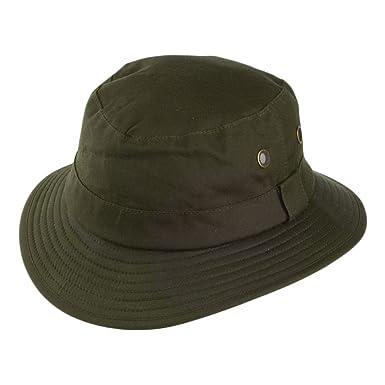 Failsworth Hats Waxed Cotton Bucket Hat - Olive X-LARGE  Amazon.co ... 51e6e4212f6