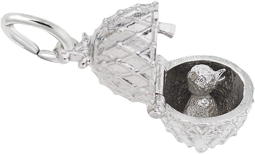 Easter Egg Sterling Silver Charm