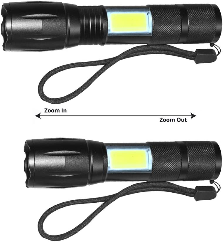 including 1PCS battery and Charger Domini LED Flashlight Portable Waterproof Handhold Flashlight High Lumen