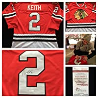 Duncan Keith Chicago Blackhawks Signed Autograph Red Hockey Jersey #2. JSA COA
