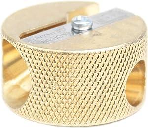 MOBIUS & RUPPERT Solid Brass Pencil Sharpener - Circular Double