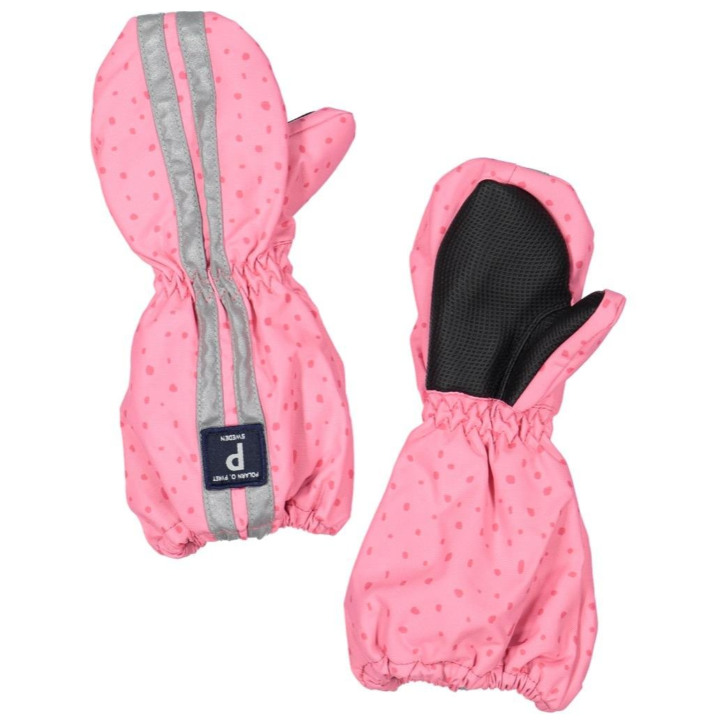 983ce007a695 Amazon.com  POLARN O. PYRET SPATTER DOT SHELL CUFF MITTENS (BABY ...
