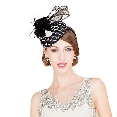 Elegant Fascinators Pillbox Hat Summer Ladies Wedding Derby Fedora Church  Hats feac748efb3