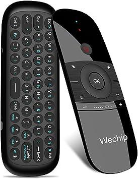 WeChip Mini Teclado, Smart TV ratón inalámbrico Fly Mouse W1 Mando a Distancia Multifuncional para Android TV Box/PC/Smart TV/proyector/HTPC/All-in-One PC/TV: Amazon.es: Electrónica