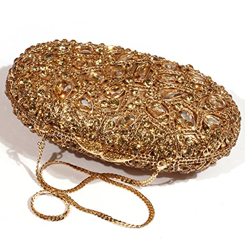 Gold Pattern Digabi leaf Bags Colourful Clutch Women Crystal Circular Evening zEEqrB