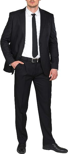 BlueBlack Herren Slim Fit Anzug Rovigo