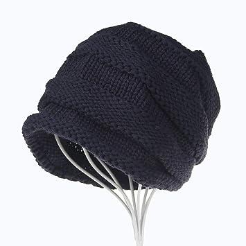 Amazon.com   Boomdan Warm Wave Ladies Worm Winter Winter Hat Style Beanie  Hat Reversible Hat with HAT SKI Snowboard (Navy)   Beauty 28240547470