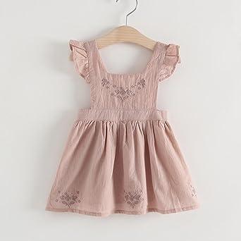 Vestido de niñas, ❤ Manadlian Niñas Vestidos Sin Mangas Patrón de Estrellas Verano Ropa 1-5 años: Amazon.es: Ropa y accesorios