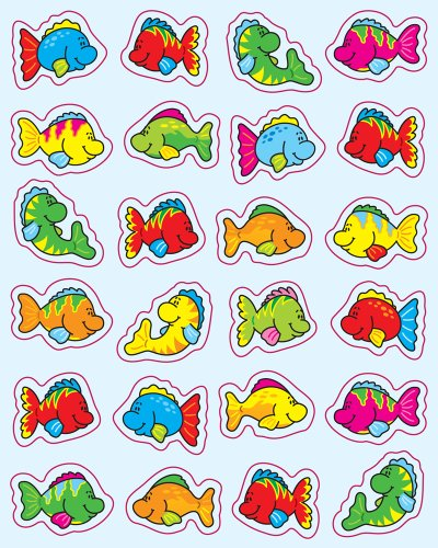 Roll Stickers Fish - Carson Dellosa Fish Shape Stickers (5252)