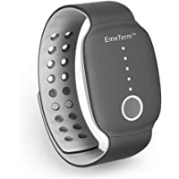 EmeTerm Motion Sickness Wrist Band Electrode Stimulator Morning Sickness Relief Band Without Side Effects Rechargeable Black Travel Bracelet Relief from Nausea, Vomiting