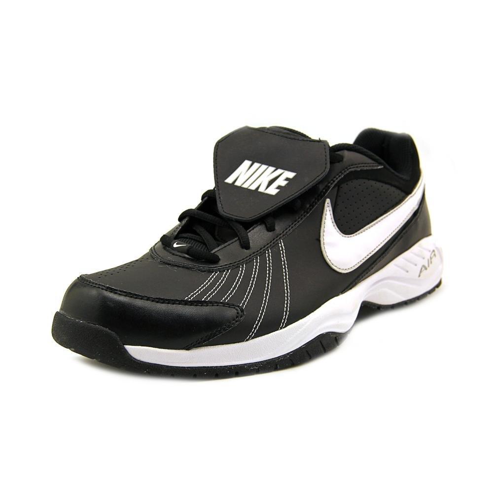 Men's Nike Air Diamond Baseball Training Shoe Black/Metallic Silver/White Size 9.5 M US