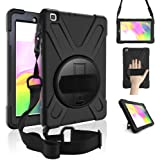 ZenRich Galaxy Tab A 8.0 Case (2019),360 Degree Rotatable Kickstand,Hand Strap and Shoulder Strap, zenrich Hybrid Heavy…
