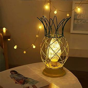 Wankd Lamparas a pilas, Lámpara de mesa, LED, Metal, Dos tonos, Alimentada con pilas, Titular de Luz para la Sala de estar En Casa Decoración: Amazon.es: Iluminación