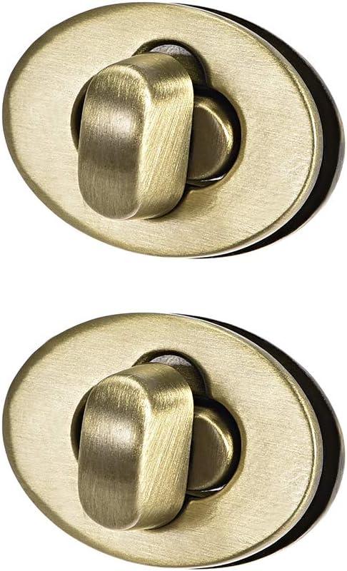 CRAFTMEmore 2sets 1-3//8 Oval Twist Locks Purse Closure Leathercraft Accessories Turn Locks Antique Brass