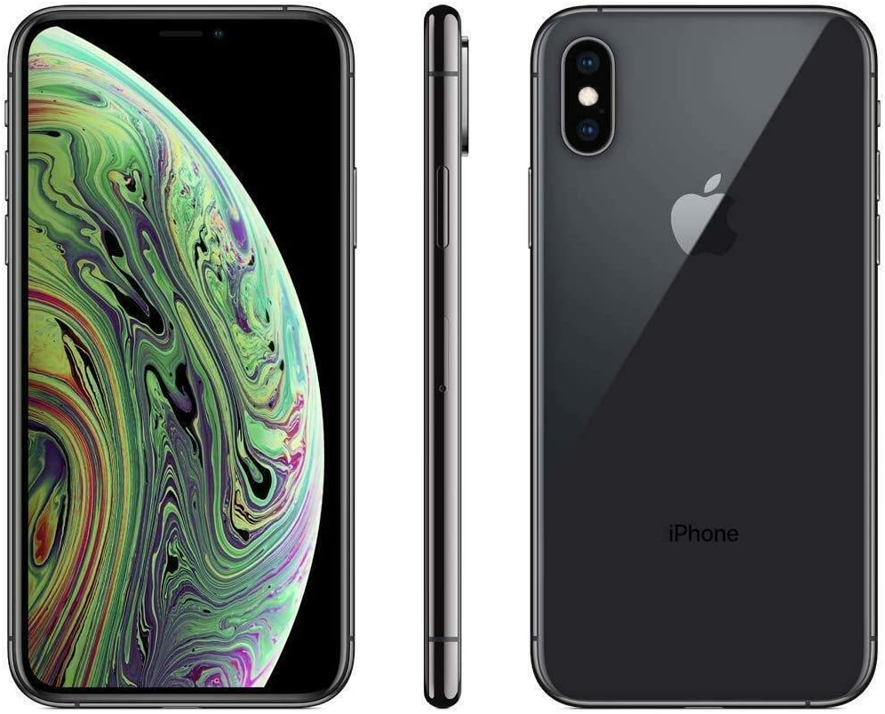 Apple iPhone Xs, Fully Unlocked, 256 GB - Space Gray (Renewed)