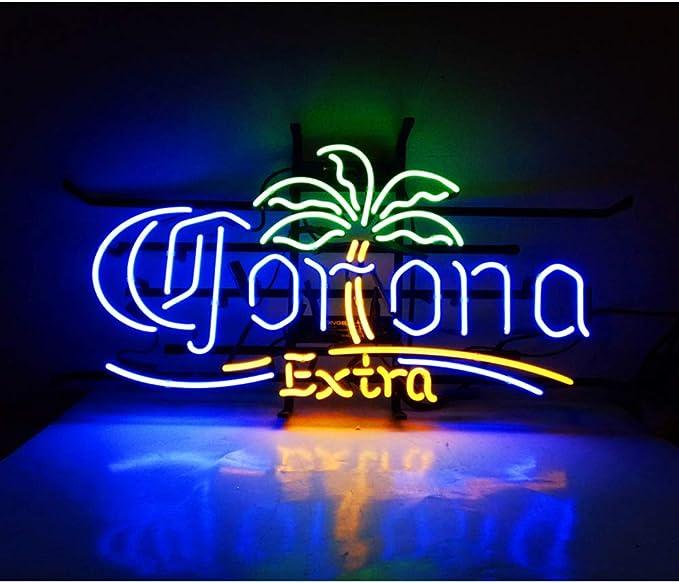 Corona Extra Lámpara de Neón Para Dormitorio, Bar, Hotel, Playa,bares de cerveza, bares, hoteles, tiendas, restaurantes, billar, garaje, ventana, entretenimiento de la playa 16